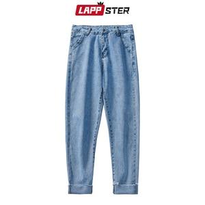 Image 5 - LAPPSTER mężczyźni koreański mody obcisłe dżinsy rurki spodnie 2020 lato Streetwaer Hip Hop Skinny dżinsy męskie proste niebieskie spodnie