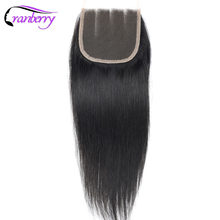 Cranberry Hair Straight Hair Lace Closure 8-20 inches Natural Color Remy Human Hair Closure Brazilian Hair Can Be Dyed Free Ship(China)