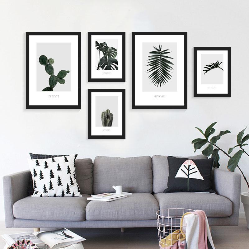Buy 2017 new nordic deep green cactus for Cuadros para decoracion nordica
