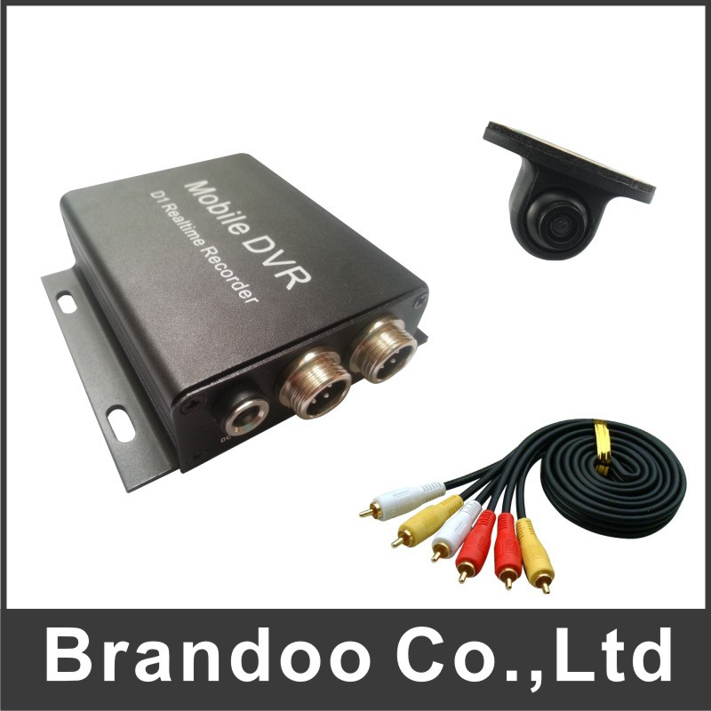 DIY CAR DVR recorder kit, including recorder, car camera, and video cable for DIY installation, SD card used