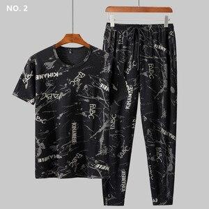 Image 2 - Sommer Mann Kleidung Set 2 Zwei Stück Top und Hosen 2019 Trainingsanzug Männer Sets T Shirt Plus Größe 6XL 7XL 8XL 9XL Sport Herren Camiseta
