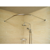 140cm Stainless Steel Extendable Telescopic Shower Curtain Rod Bathroom Accessories Shower Hardware Fixtures For Home Decor