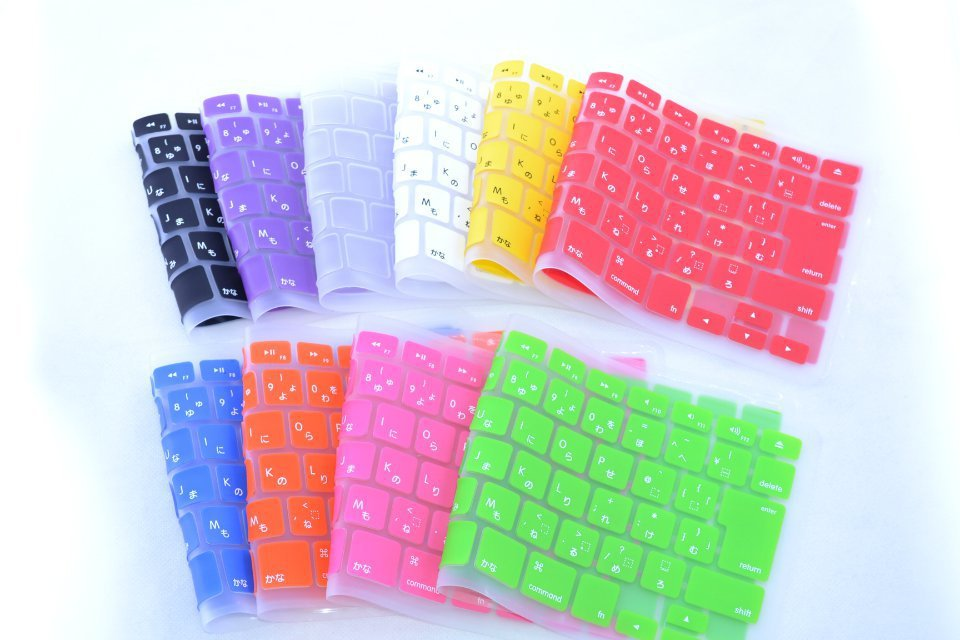 50pcs Wholesale Japan Japanese Waterproof Protector Cover Skin For MacBook Pro retina 13 15 17 Air 13 inch membrane keyboard notebook sleeve protector for mac book 13 for macbook air pro 13 laptop sleeve carry bag case pro waterproof cover