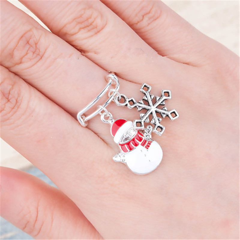 !PC Party Gifts Bell Christmas Ring White Elk Ring Merry Christmas Rings Jewelry