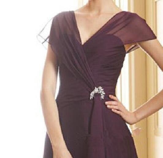 Лидер продаж шифоновый платок рукав до колена короткие женские Формальные платья vestidos de fiesta de noche - Цвет: same as picture