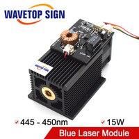 Высокомощный лазерный модуль 15 Вт 450нм Blu Ray DIY лазерная гравировка резка 450нм синий лазерный модуль 15 Вт