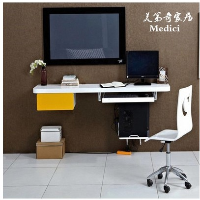 Cheap Computer Desk Wall Mounted TV Cabinet Wall Shelf Laptop Desk Dining  Tables Can Be Customized
