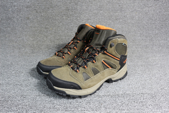 Men professional outdoor hiking shoes Hi-Tech nubuck leather waterproof breathable hiking boots walking traveling shoes leather