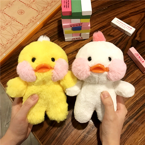 Image 1 - Cartoon Phone Case For Iphone 12 11 Pro MAX  Cute Yellow Duck Doll Cover Case For Iphone XS XR 8plus 7 6plus SE Fluffy Plush