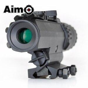 Image 2 - Lunette de visée Airsoft 1 3X grossissement portée tactique fusil de tir en aluminium télescope Softair AO3033 optique de chasse