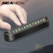 Car Temporary Parking Card Phone Number Card Plate Switch Night Telephone Number Parking Stop Card For Auto Stickers Accessories qcbxyyxh car hidden parking card with phone number temporary stop sign card plate for vw honda toyota lada peugeot ford opel kia