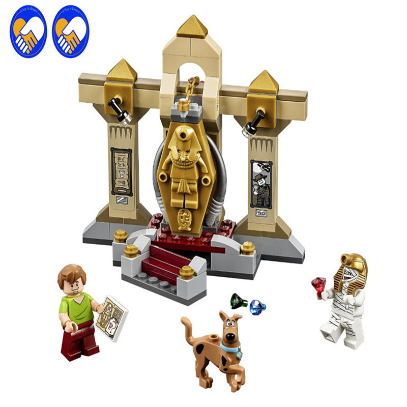 A Toy A Dream Scooby-Doo 10428 Mummy Museum stery Building Block Model Kits Scooby Doo Marveled Toys Compatible bela 10429 scooby doo mummy museum mysterious plane minifigures building block minifigure toys best legoelieds toys