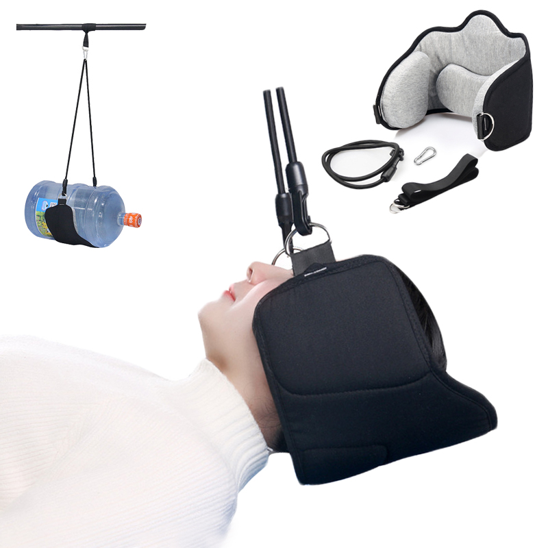 Neck Hammock Pain Relief Releaxing Traction Neck Massager Device Head Home Office Hangmat Pillow Travel Portable Hammock(China)