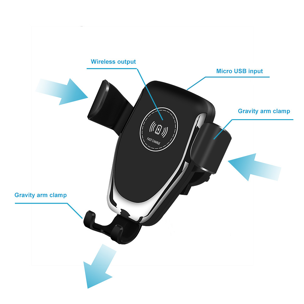 10W Fast Qi Car Wireless Charger For iPhone X XS Max XR Samsung S8 S9 S10 Car Phone Holder For Xiaomi Mi 9 USB Charging Stand in Mobile Phone Chargers from Cellphones Telecommunications