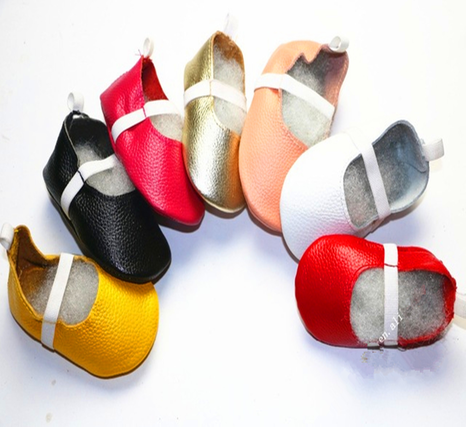 2018 Cute Baby Ballet Shoes Genuine Leather Baby Moccasins Candy Color New Childrens Shoes Princess Toddler Shoes