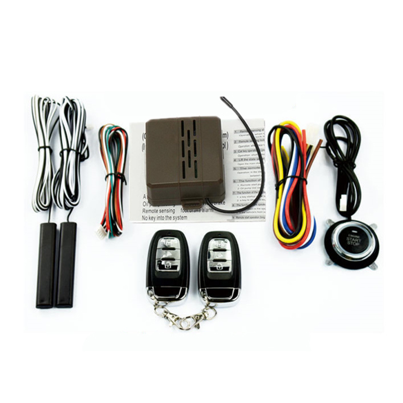 NEW Car Alarm System Engine Start Lock Ignition Starter Driving Security Push Button with Remote Keyless Entry System 433MHZ
