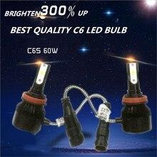 Дешевый DLAND C6S авто светодиодный лампы KIT LIGHT 60 Вт 6400LM фар лучшее C6, светодиодный индикатор преобразования H1 H3 H4 H7 9006 9005 H8 H11 H13