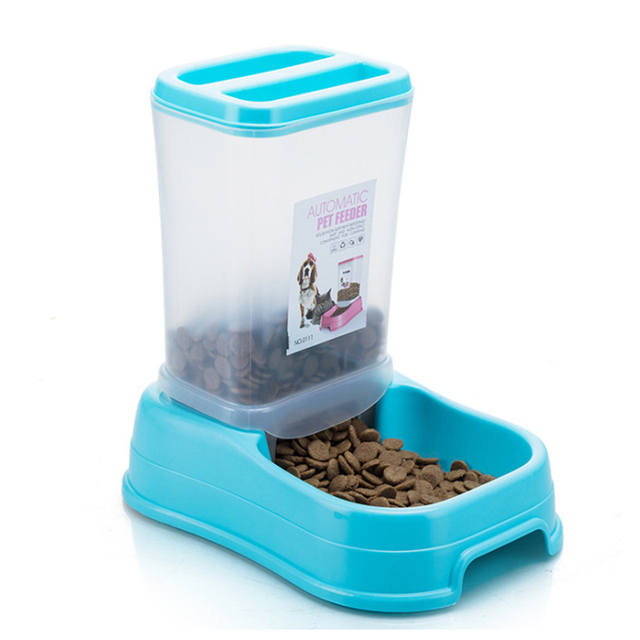 Petshy Pet Automatic Feeder Dog Cat Food Bowl Removable Plastic Kitten Puppy Feeding Dish Dispensers For Small Medium Cats Dogs 3