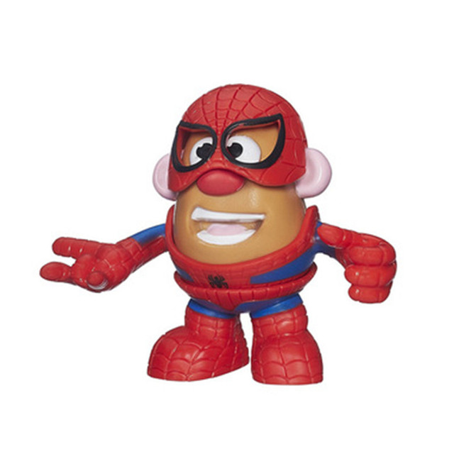 b2dbf7af66 Super Hero Mr. Potato Head Spider-man Iron Man America Captain DIY Assembly  Action