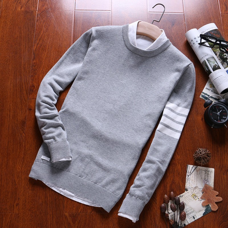 Varsanol Cotton Sweater Men Pullovers O Neck Knited Coat Winter Casual Sweaters Homme Long Sleeve Knitting Striped Coats 3XL New
