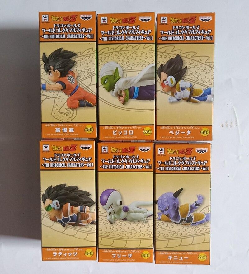 Original Banpresto 6pcs/set Dragon Ball Z 30th Dbz Super Wcf 2 Goku Ginew Freeza Pvc Figure Toys Dolls Attractive And Durable Toys & Hobbies
