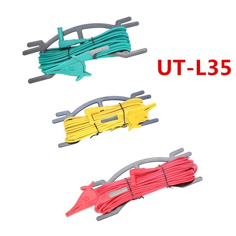 UNI-T UT-L35 combination test line for UT521, UT522 resistance tester 4 8 days arrival changsheng lanke test line clip for ground resistance tester