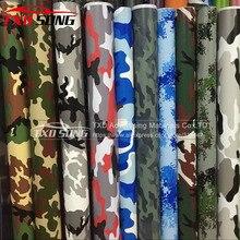 Buona qualità Auto Diverse Per Lo Styling Grande Digital Woodland Green Camo Camouflage Pellicola Del Vinile Wrap Sticker Desert Camouflage pellicola