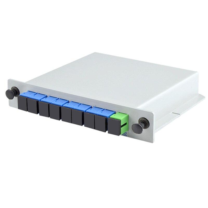 PLC 1X8 Single mode splitter Fiber Optical Box 1x8 PLC Splitter box FTTH PLC Splitter 1x8