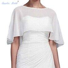 Сапфировое свадебное vestido de festa Женская шаль болеро шифон вечернее свадебное накидка Болеро накидка