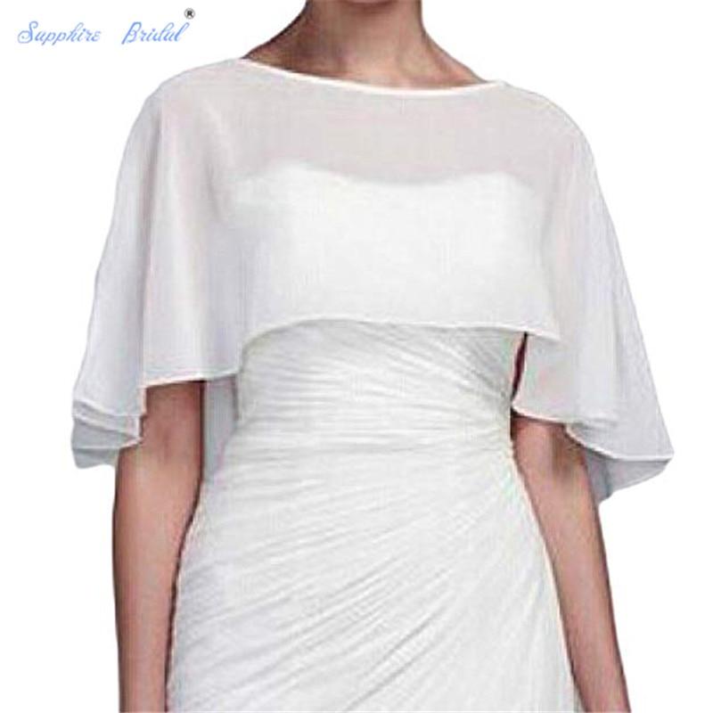 Sapphire Bridal Vestido De Festa Women's Shawl Wraps Shrug Chiffon Evening Wedding Cape Bolero Cover Up