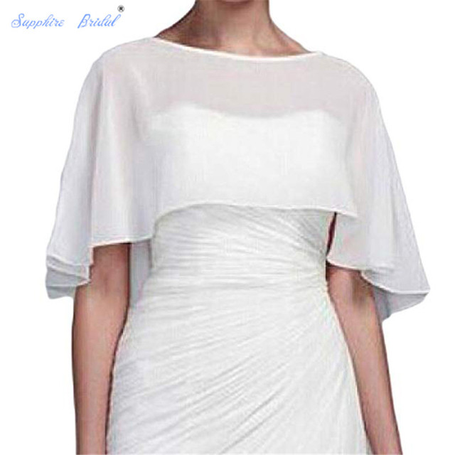 ed763441c99d3 Sapphire Bridal Vestido De Festa Women's Shawl Wraps Shrug Chiffon Evening  Wedding Cape Bolero Cover Up
