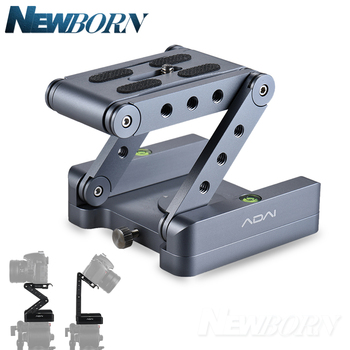 2018 Aluminum Alloy Folding Z Flex Tilt Head Ballhead Folding Quick Release Plate camera Stand Holder for Nikon Canon DSLR