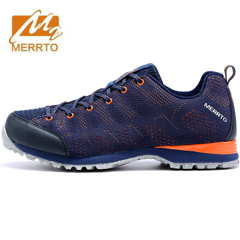MERRTO Men's Outdoor Hiking Trekking Shoes Sneakers For Men Sports Climbing Mountain Trail Shoes Sneakers Man Senderismo merrto men s sports leather outdoor hiking trekking shoes sneakers for men wearable climbing mountain shoes man senderismo