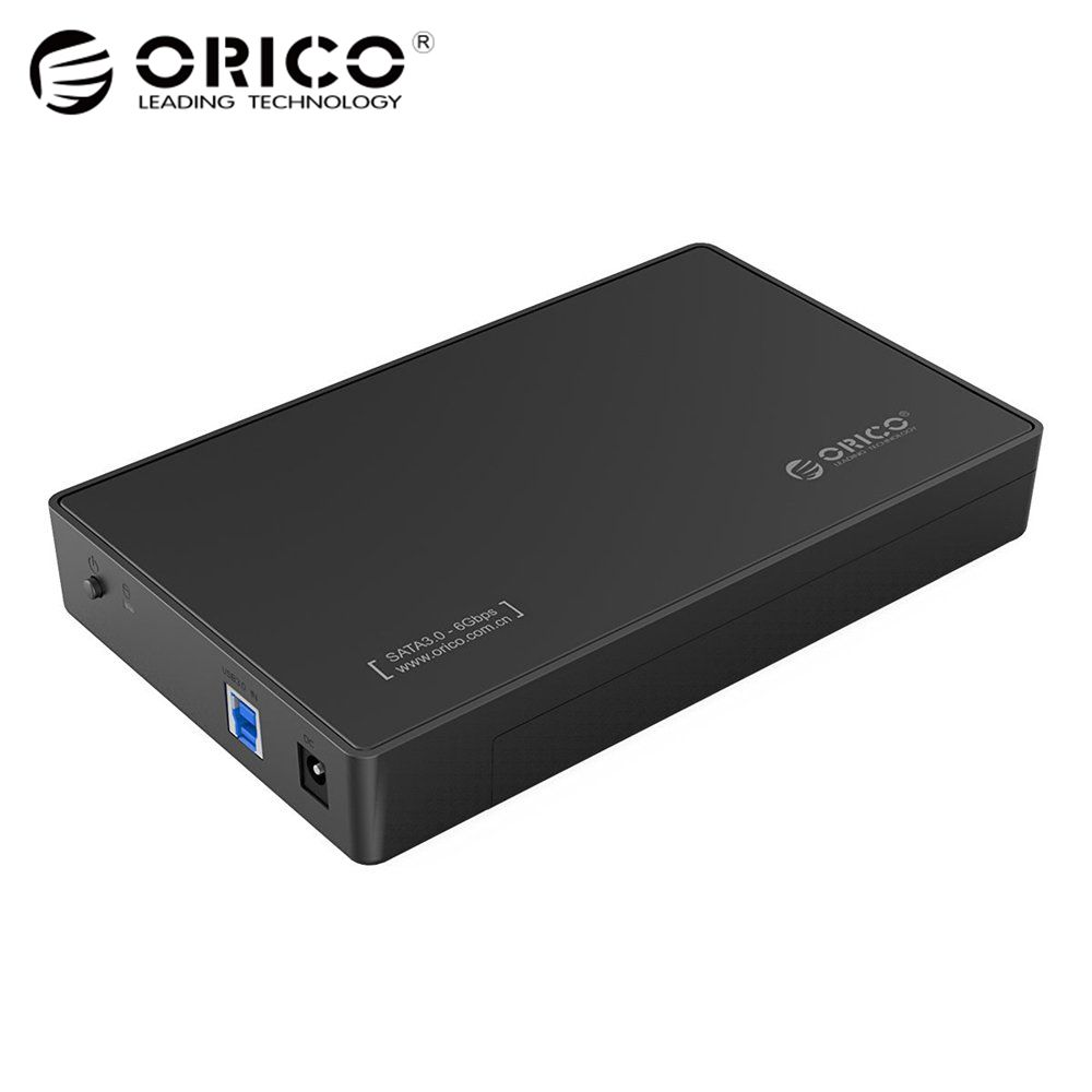 3.5 Inch HDD Enclosure Case, USB 3.0 5Gbps to SATA Support UASP and 8TB Drives Designed for Notebook Desktop PC (ORICO 3588US3)