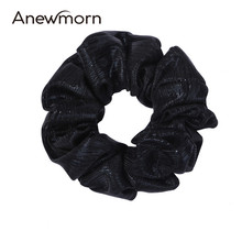2 Pcs/lot Anewmorn Women Thin Solid Chiffon Hairbands Girls Lady Fashion Ponytail Scrunchies Lady Hair Accessories Headwear(China)