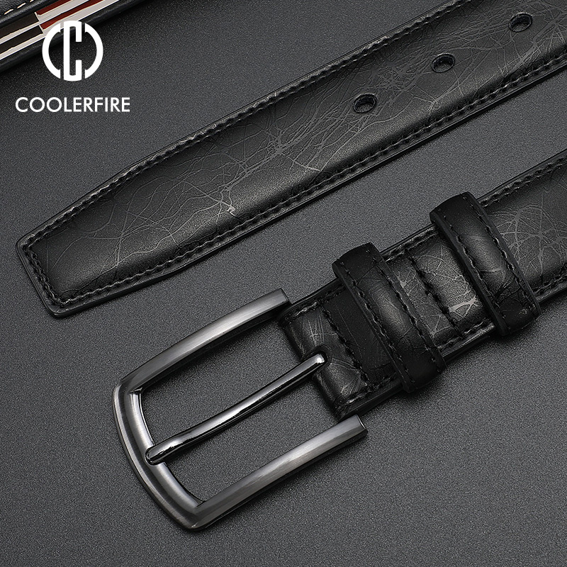 Fashion Designers Men Belts Genuine Leather Dress Casual Pin Buckle Business Belt For Man 2019 New Male Belt Luxury Strap HQ091