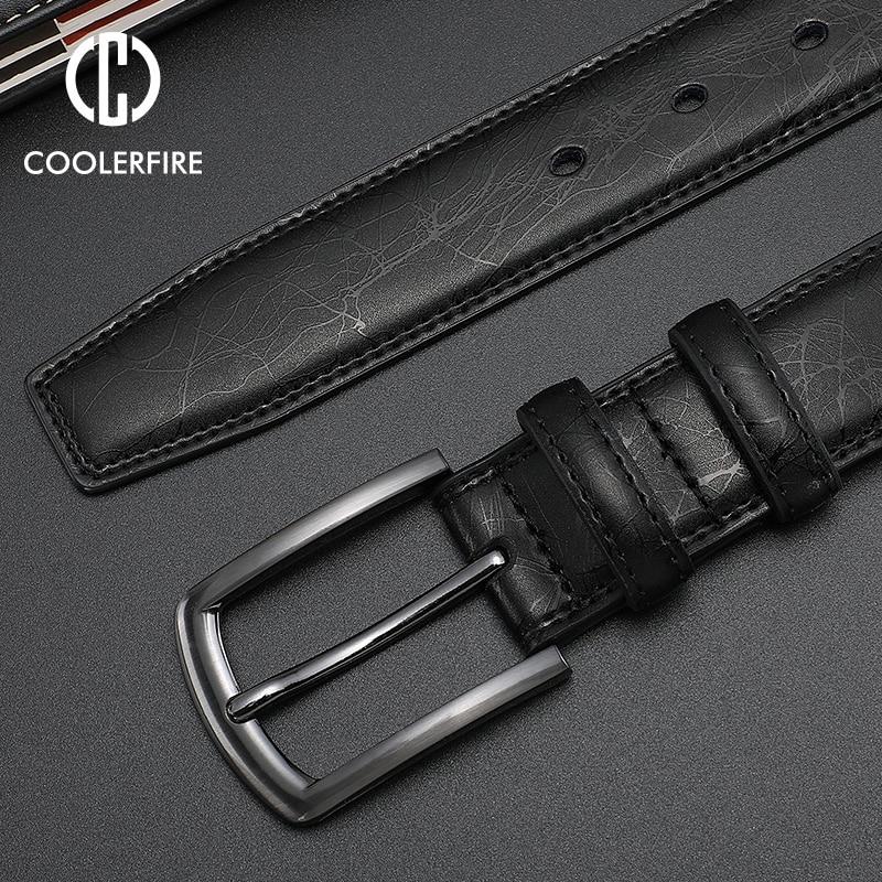 Fashion Designers Men Belts Genuine Leather Dress Casual Pin Buckle Business Belt For Man 2019 New Male Belt Luxury Strap HQ091