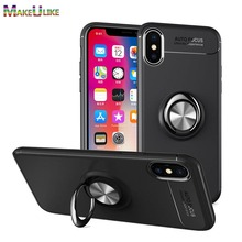 hot deal buy makeulike ring slim cover for iphone xs max xr case soft tpu phone bags back cases for iphone xr x case iphone xs max cover