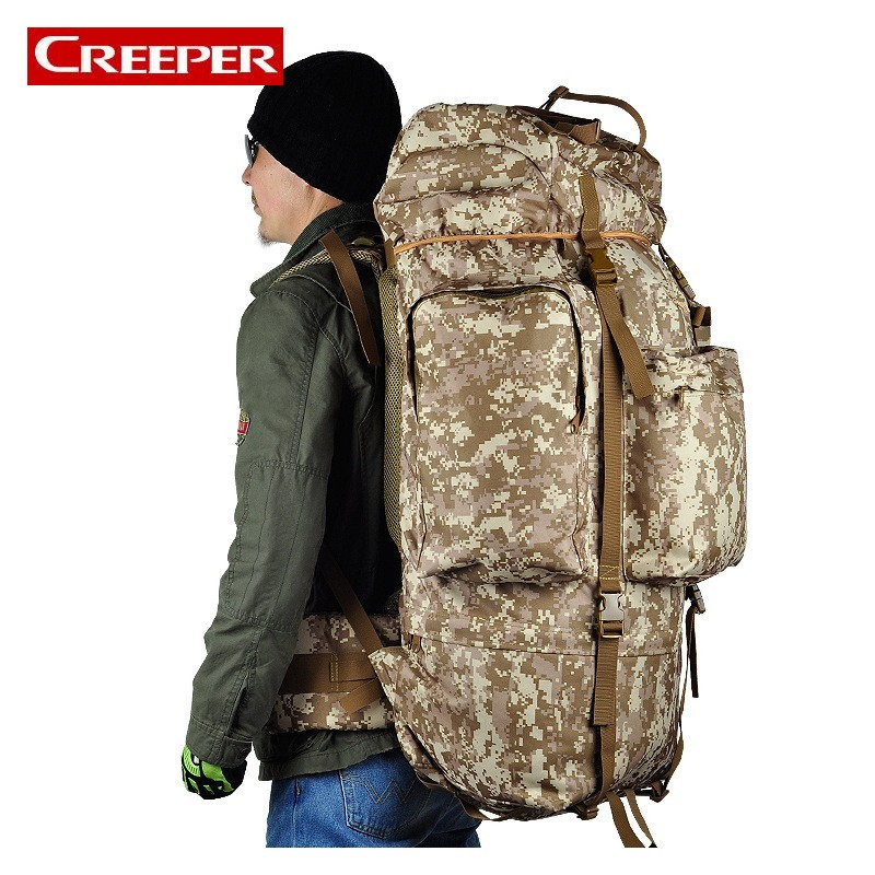 Large Capacity Tactical Bag Mountaineer Bag 100L Outdoor Camping Hiking Camouflage Backpack Waterproof Cover Military Backpack 80l large capacity tactical military lightweight waterproof 600d camouflage backpack outdoor hiking backpack mountain army bag