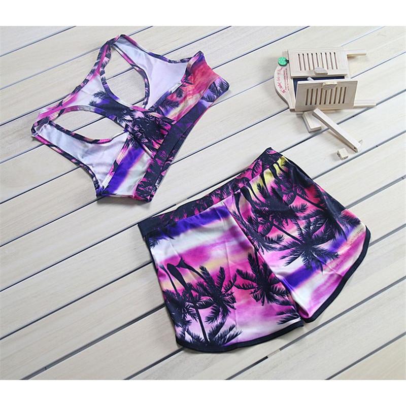 2016 verano Sexy Bikini mujeres traje de baño de impresión de dos - Ropa deportiva y accesorios