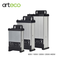 AC220V Rainproof LED Power Supply DC12V 60W 100W 200W 250W 400W LED Driver Power Adapter For