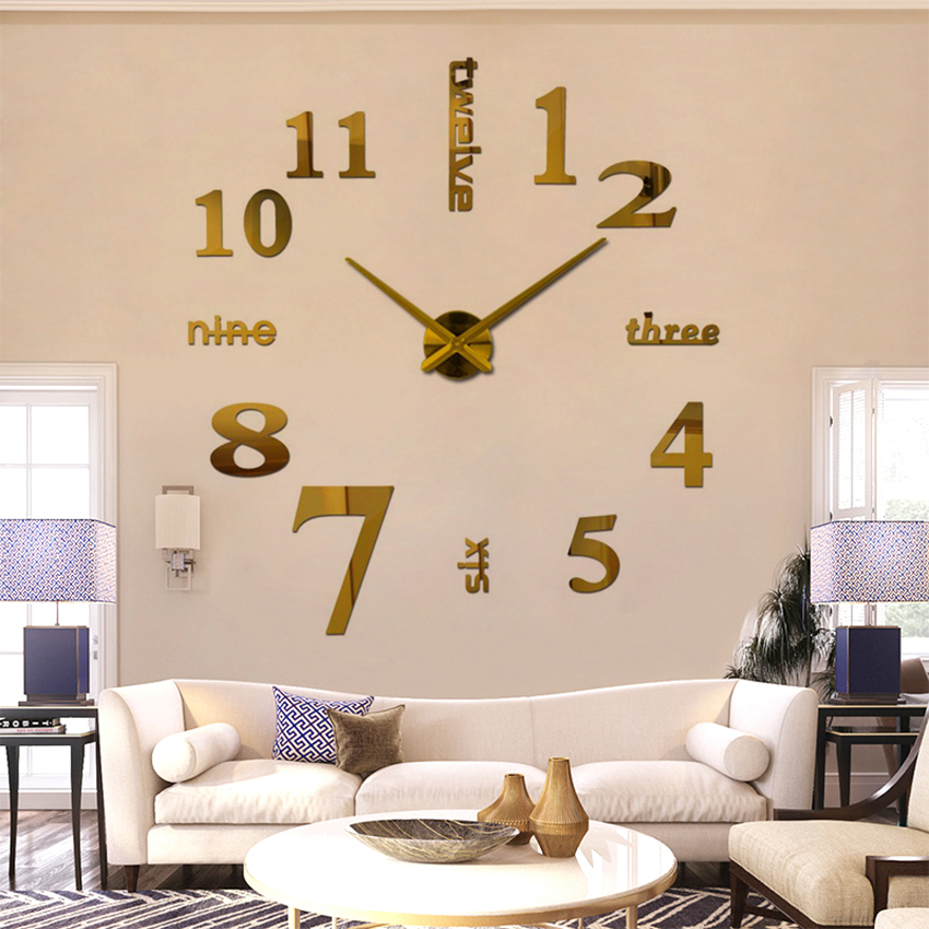 2018 супер голям diy стенен часовник - Декор за дома - Снимка 6