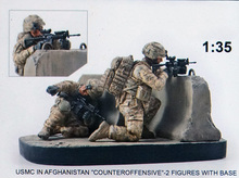 Resin Kits 1 35 Scale USMC IN AFGHANISTAN COUNTEROFFENSIVE 2 Figures Kits with base  soldiers