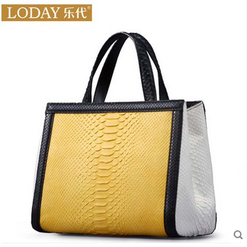 ledai European and American 2017 new python skin chain bag with a leather handbag with a leather bag european and american 2017 new lychee grain 100