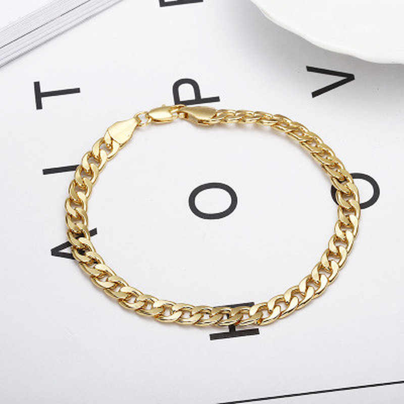 Stainless Steel Chain Bracelets for Man Women Gold Silver Color for Pendant 2.3NK Donot Fade Jewelry