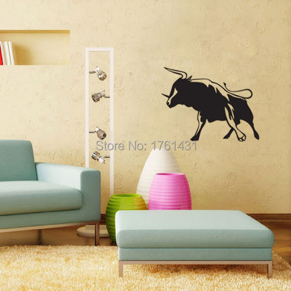 Wild Bull Fight Stand wall decals vinyl stickers home decor nursery ...
