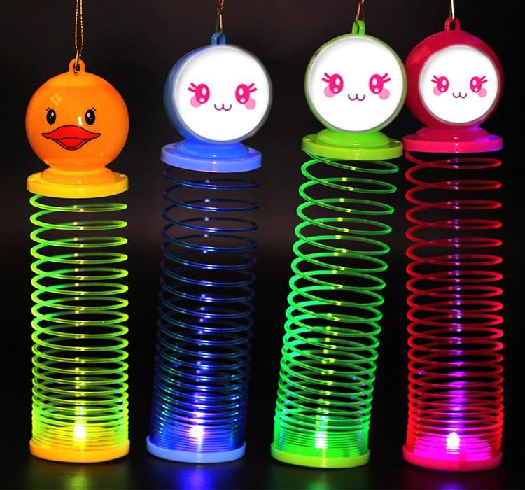 Luminous Hand Tone Cartoon Rainbow Lantern Mini Rainbow Lapel Elastic Ring Creative Child Toys