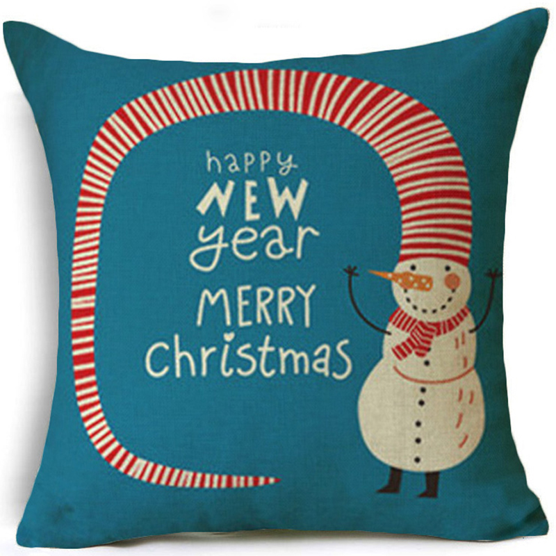 Funny Christmas Cartoon Character Printing Cushion Cover Cozy TV Couch Potato Throw Pillow Case for Sofa Couch Seat Decorative