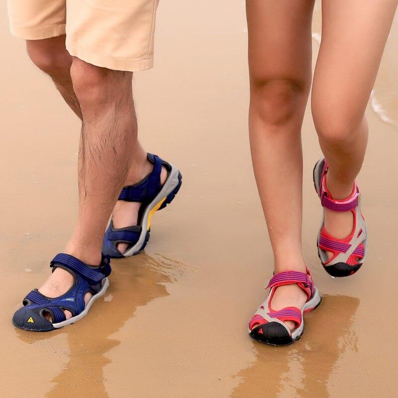 HUMTTO Outdoor Women s Sandals Men Beach Shoes Anti collision Summer Aqua Shoes Rubber Air Mesh