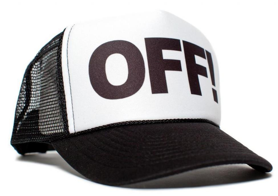 OFF! Letters Print Baseball Cap Trucker Hat For Women Men Unisex Mesh Adjustable Size Black Drop Ship M-78